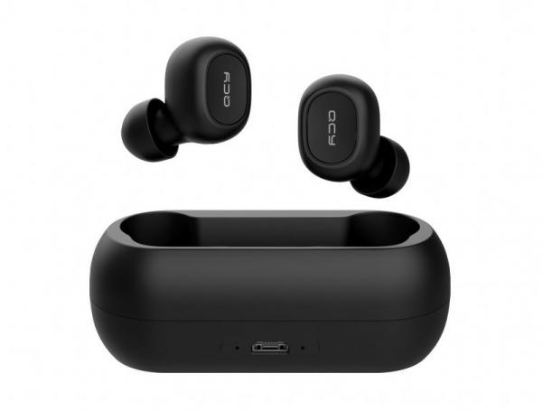 Casti wireless Xiaomi QCY T1 earbuds, TWS, bluetooth 5.0, stereo,  microfon, modul Realtek, 380 mAh, negre 0