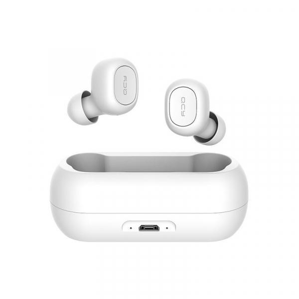 Casti wireless Xiaomi QCY T1 earbuds, TWS, bluetooth 5.0, stereo,  microfon, modul Realtek, 380 mAh, albe 0
