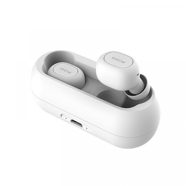 Casti wireless Xiaomi QCY T1 earbuds, TWS, bluetooth 5.0, stereo,  microfon, modul Realtek, 380 mAh, albe 1