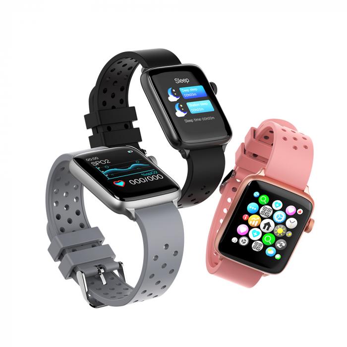 Smartwach Blitzwolf BW-HL1 Pro, full touch 1.54'', IP68, 260mAh, Bluetooth 5.0, monitorizare ritm cardiac, activitati, notificari, negru [0]