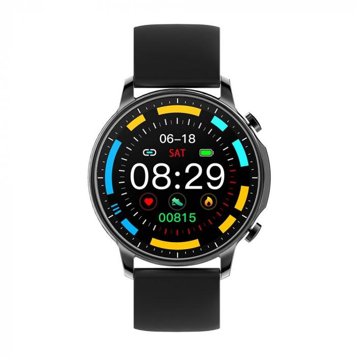 Smartwatch Colmi V23 Pro, masurare ritm cardiac, temperatura, SP02, activitati sportive, ecran 1.28″ TFT, bluetooth 5.0, negru [1]