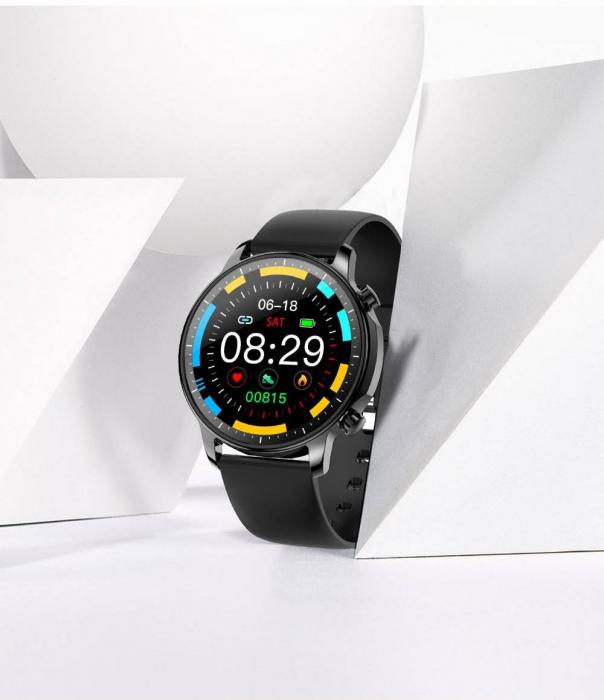Smartwatch Colmi V23 Pro, masurare ritm cardiac, temperatura, SP02, activitati sportive, ecran 1.28″ TFT, bluetooth 5.0, negru [4]