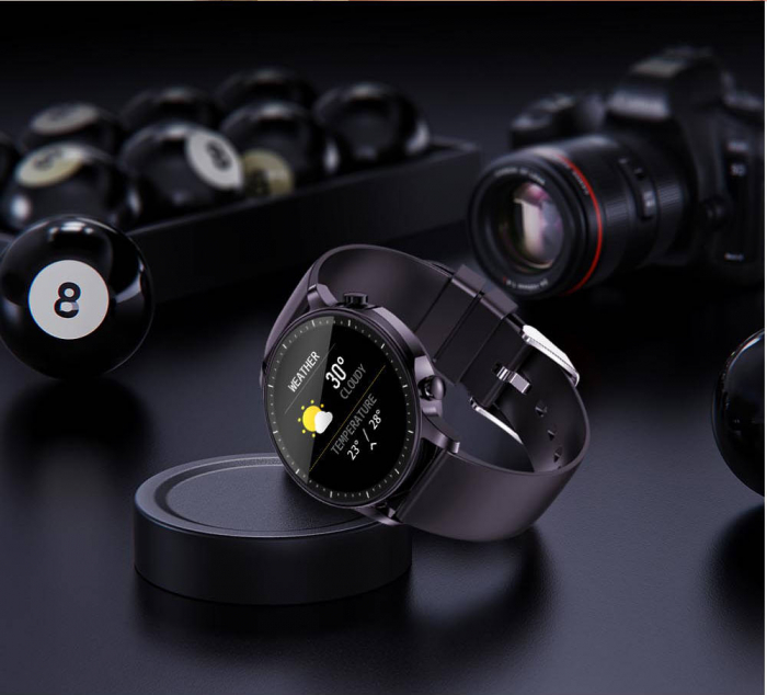 Smartwatch Colmi V23 Pro, masurare ritm cardiac, temperatura, SP02, activitati sportive, ecran 1.28″ TFT, bluetooth 5.0, negru [5]