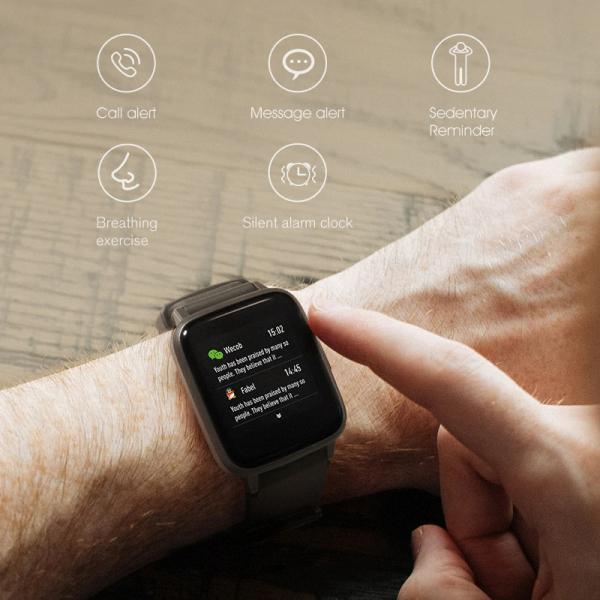 Smartwatch Xiaomi Haylou LS01, IP68 waterproof, 9 moduri sport, bluetooth, notificari, 14 zile autonomie, negru 7