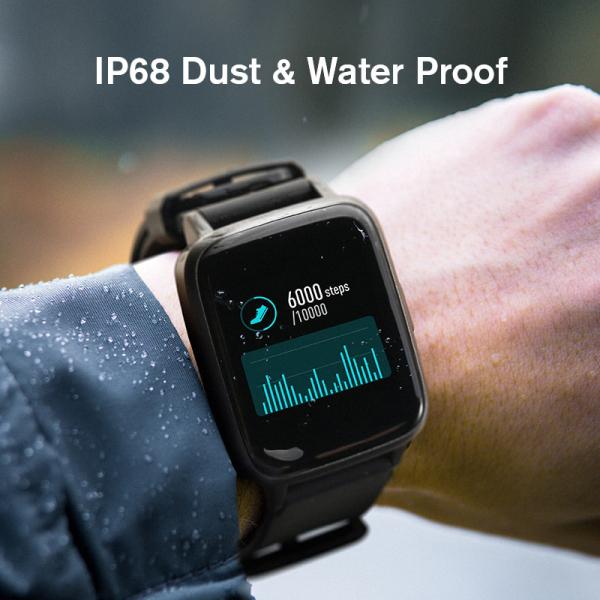 Smartwatch Xiaomi Haylou LS01, IP68 waterproof, 9 moduri sport, bluetooth, notificari, 14 zile autonomie, negru 5