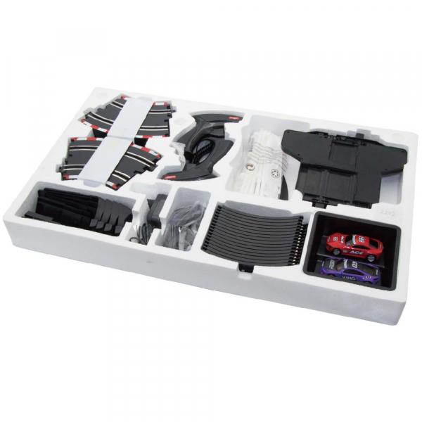 Circuit masinute cu telecomanda Joysway Super 252, lungime 534cm, alimentare cu USB, scala 1:43, faruri LED 3