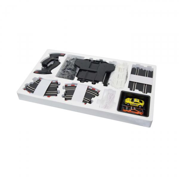 Circuit masinute cu telecomanda Joysway Super 251, lungime 420 cm, alimentare cu USB, scala 1:43, faruri LED 1