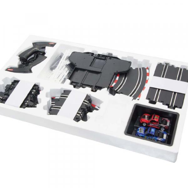 Circuit masinute cu telecomanda Joysway Super 253, lungime 446cm, alimentare cu USB, scala 1:43, faruri LED 2