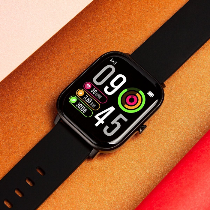 Ceas smart Colmi P8 Pro, monitorizare temperatura, somn, sporturi si ritm cardiac, IP67, notificari, sticla securizata 2.5D 4