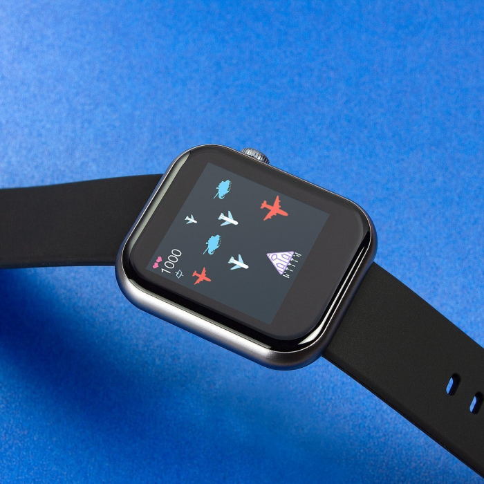 Smartwatch Colmi P9, 210 mAh pana la 10 zile autonomie, senzor HR, notificari, monitorizare nivel oxigen din sange, somn, IP67, negru 3