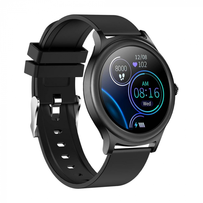 Smartwatch Colmi model V31, monitorizare ritm cardiac, somn, 9 moduri sport, IP67, notificari, bluetooth 5.0, negru [1]
