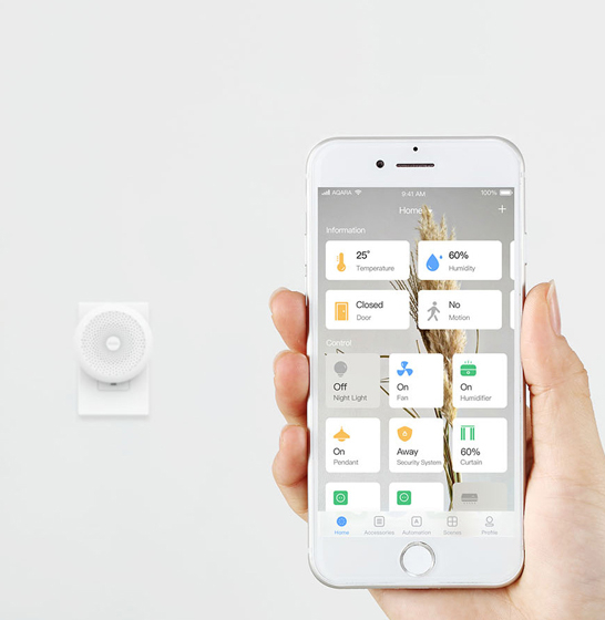 Consola Gateway Aqara, WiFi 2.4GHz, ZigBee, compatibila doar Apple HomeKit si Siri, inel LED, engleza 3