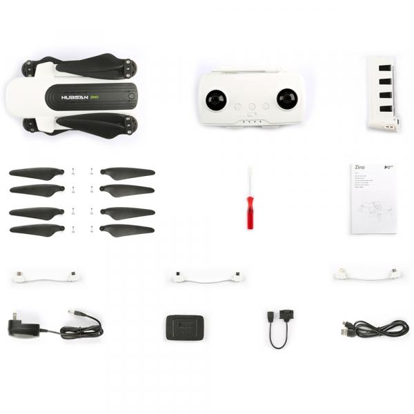 Drona Hubsan Zino, GPS, barometru, Ultra-HD 4K, F2.2, transmisie stabila WiFi 5G, gimbal mecanic cu 3 axe 4
