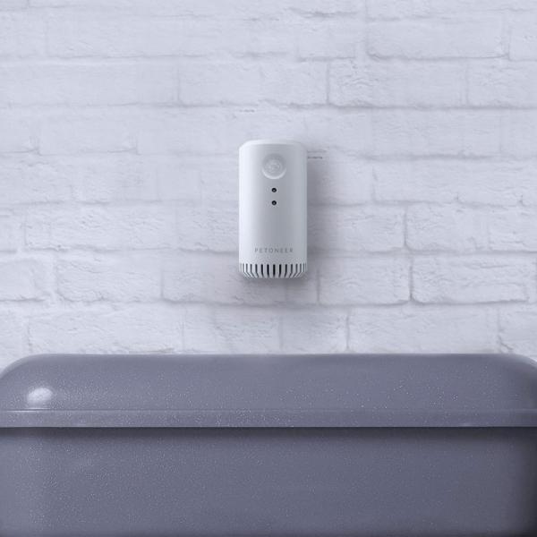Eliminator mirosuri Petoneer smart, sterilizator, purificare aer, montare in zona lietierei pentru pisici, senzor IR 2