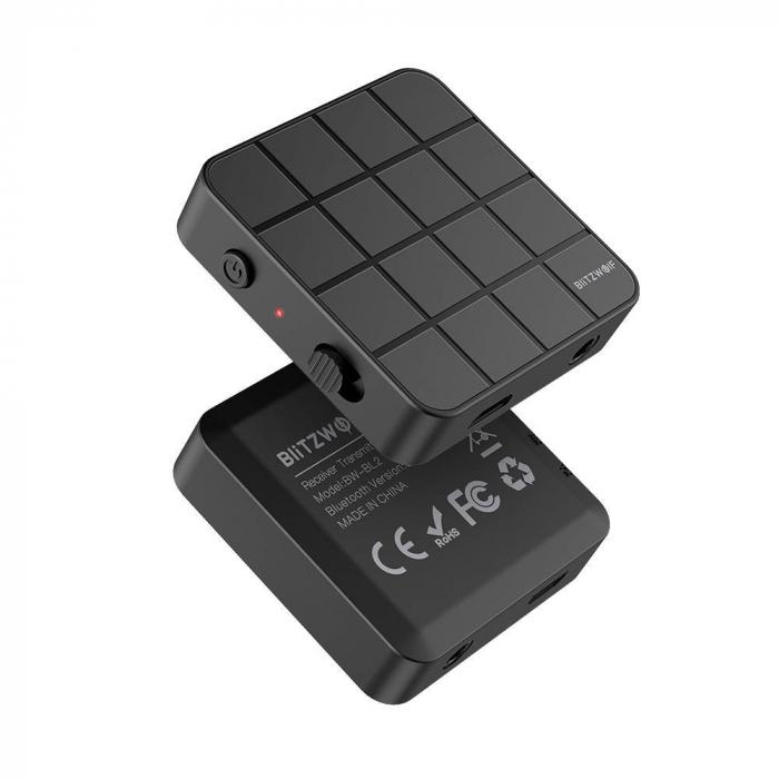 Emitator & receiver BlitzWolf BW-BL2, bluetooth 5.0, 200mAh, USB, aux 3.5 [2]