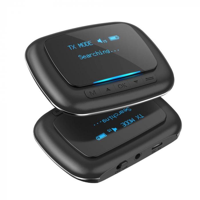 Emitator & receiver BlitzWolf BW-BR6, Bluetooth 5.0, aptX, SBC, AAC, display OLED, port audio 3.5mm, 500mAh [0]