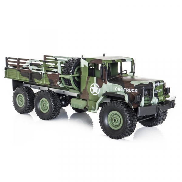 Funtek CR6, camion RC militar 6x6 cu telecomanda 2.4Ghz, camuflaj, 700mAh, 1:16, lumini LED, 25min autonomie 1