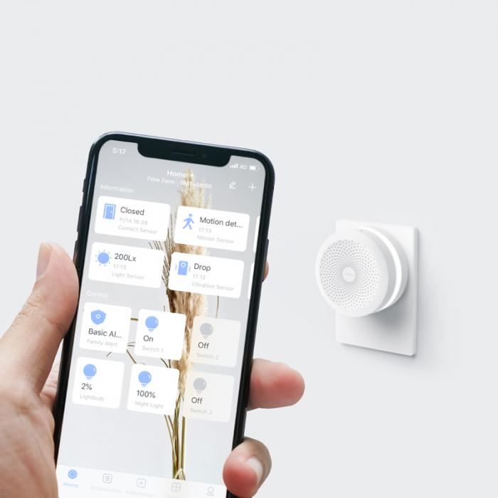 Gateway Aqara HUB M1S, Wi-Fi 2.4Ghz, ZigBee 3.0, inel LED RGB, compatibila Homekit, Google Home, versiunea Europeana [3]
