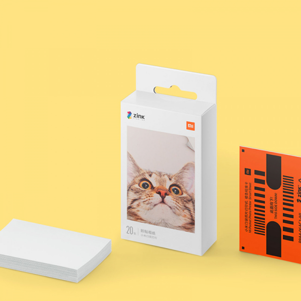 Hartie foto Xiaomi Zink pentru imprimanta portabila, 2 x 3 inch, 20 bucati, cu strat adeziv 1