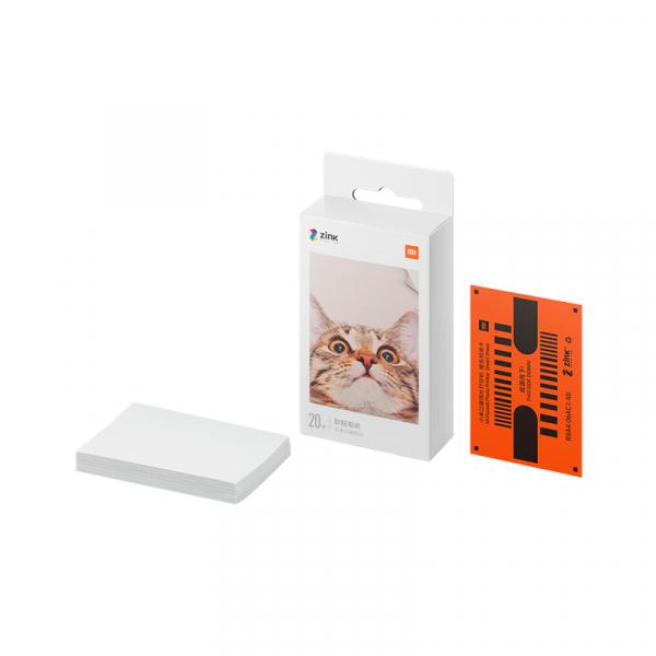 Hartie foto Xiaomi Zink pentru imprimanta portabila, 2 x 3 inch, 20 bucati, cu strat adeziv 0