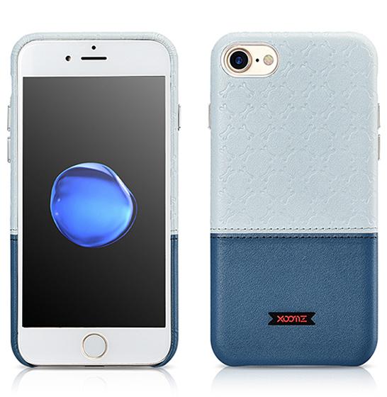 Husa XOOMZ protectie spate, handmade, pentru iPhone 7/8 din piele sintetica, albastru/bleu 1