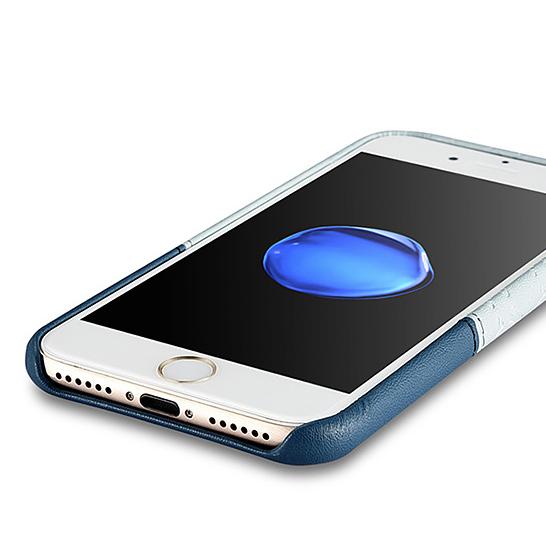 Husa XOOMZ protectie spate, handmade, pentru iPhone 7/8 din piele sintetica, albastru/bleu 4