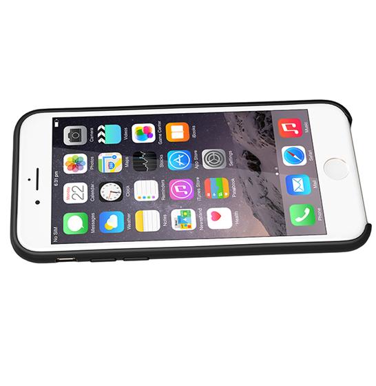 Husa XOOMZ protectie spate pentru iPhone 7/8 cu model geometric din silicon lichid, neagra 1