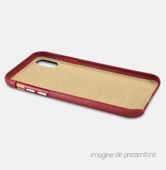 Husa slim ICARER Transformer pentru iPhone X, protectie camera, din piele naturala, vintage, neagra 2
