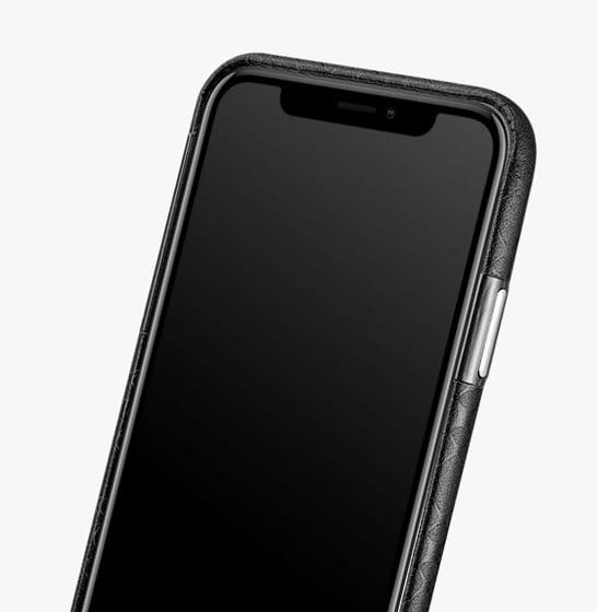 Husa slim ICARER Transformer pentru iPhone X, protectie camera, din piele naturala, vintage, neagra 3