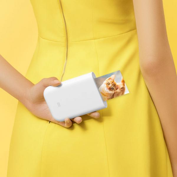 Imprimanta foto Xiaomi portabila smart, tehnologie Thermal-ZINK, bluetooth 5.0, AR, 500mAh, versiune europeana 1