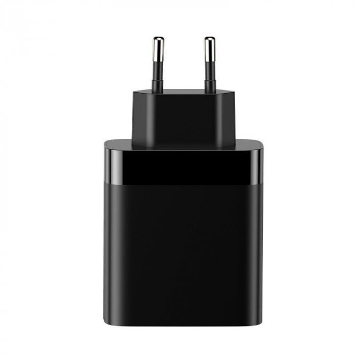 Incarcator retea Baseus 4 X USB, display LED, 30W, Quick Charge, Negru 3