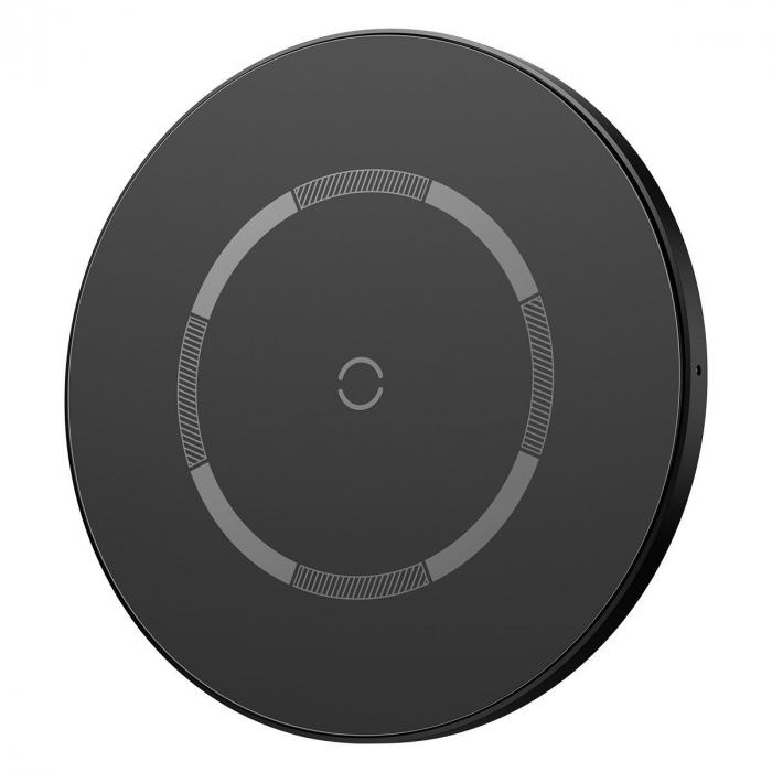 Incarcator wireless Baseus simple cu magnet, 15W, suporta incarcare QC & PD, USB-C, Negru [0]