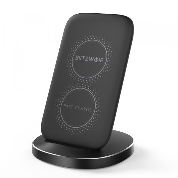 Incarcator wireless Blitzwolf BW-FWC6 cu stand, Qi fast charge, 10 wati, protectii integrate 1