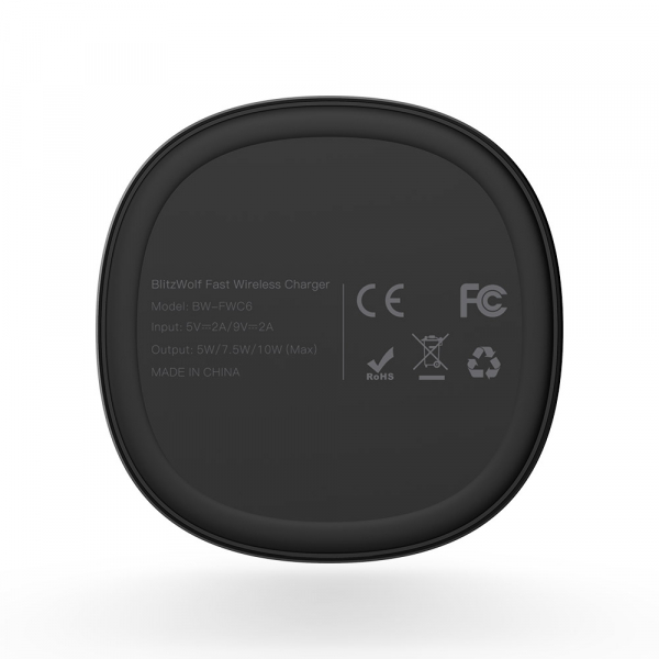 Incarcator wireless Blitzwolf BW-FWC6 cu stand, Qi fast charge, 10 wati, protectii integrate 4
