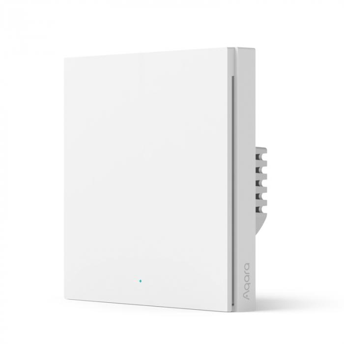 Intrerupator incastrat Aqara H1 simplu, cu nul, model 2021, Zigbee 3.0, versiune europeana, compatibil Aqara Home, Homekit, Google Home, IFTTT [0]