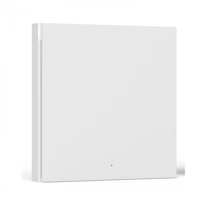 Intrerupator incastrat Aqara H1 simplu, cu nul, model 2021, Zigbee 3.0, versiune europeana, compatibil Aqara Home, Homekit, Google Home, IFTTT [2]