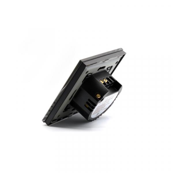Intrerupator smart Vhub cu touch, panou sticla, Wifi integrat 2.4GHz, compatibil Google & Alexa, negru 3