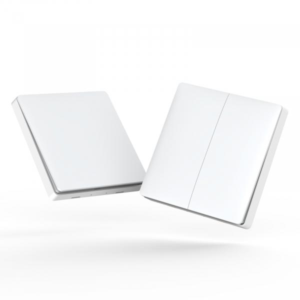 Intrerupator ZigBee Aqara dublu pentru smart home, programabil, versiune europeana 2