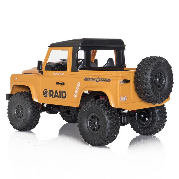 Jeep Off-Road cu telecomanda Funtek Raid2, 4X4, scala 1:12, lumini LED, 700mAh, amortizoare, roti cauciuc 3