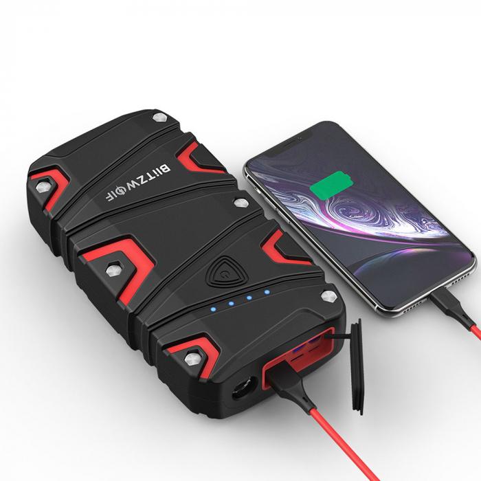Jump Starter auto BlitzWolf BW-JS1 & power bank 12000 mAh, max 800A, IP67, cabluri si clesti incluse 1