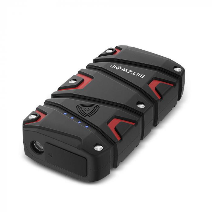 Jump Starter auto BlitzWolf BW-JS1 & power bank 12000 mAh, max 800A, IP67, cabluri si clesti incluse 2