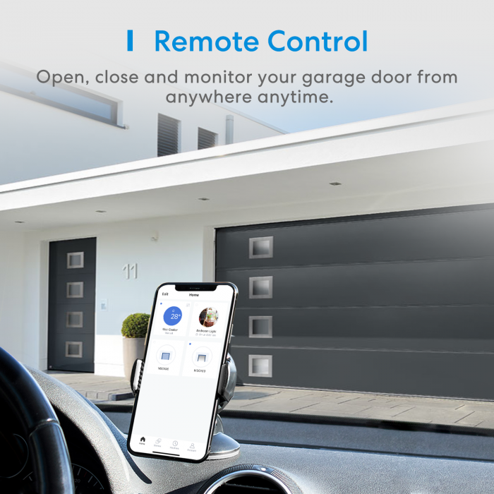 Kit smart automatizare si control usa garaj Merros varianta europeana, WiFi, compatibil Homekit, Google Home, Alexa, SmartThings, IFTTT 1