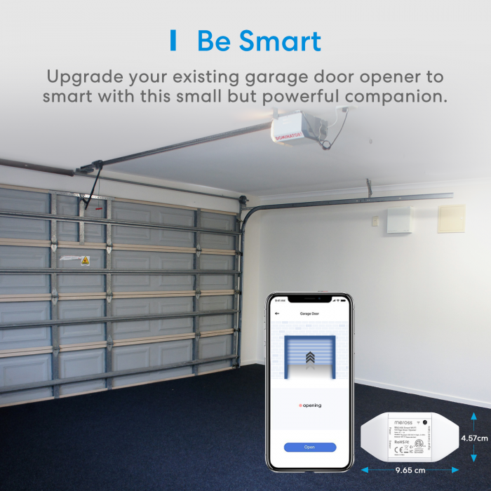 Kit smart automatizare si control usa garaj Merros varianta europeana, WiFi, compatibil Homekit, Google Home, Alexa, SmartThings, IFTTT 2