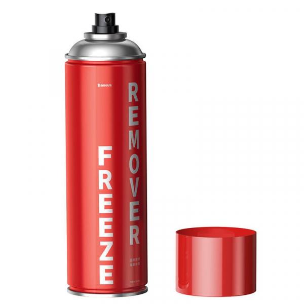 Kit auto Baseus cu spray, laveta si racleta dezghetare parbriz, incuietori, 550ml 2