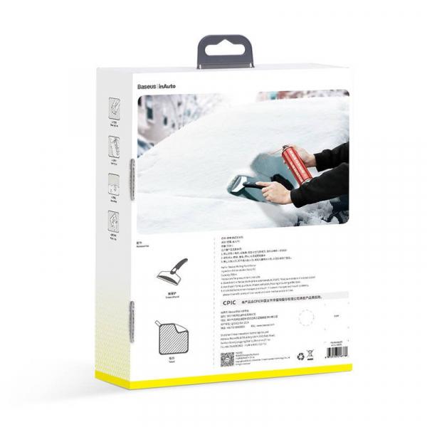 Kit auto Baseus cu spray, laveta si racleta dezghetare parbriz, incuietori, 550ml 4