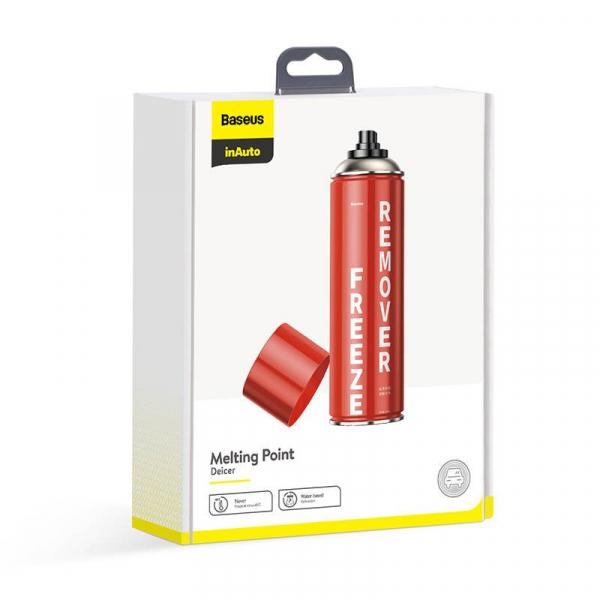 Kit auto Baseus cu spray, laveta si racleta dezghetare parbriz, incuietori, 550ml 3