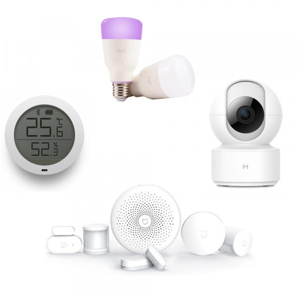 Kit smart home Xiaomi Baby, 9 in 1, detectie planset bebelus, control iluminat, monitorizare video, varianta EU 0