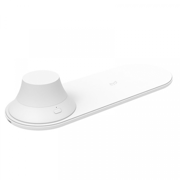 Incarcator wireless Xiaomi Yeelight Quick Charge QI, 15W, cu lampa de noapte magnetica detasabila 0