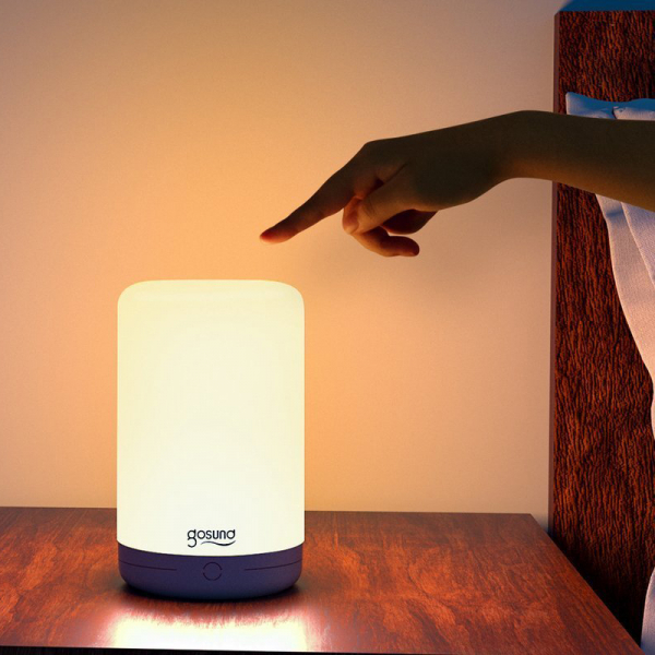 Lampa de noapte LED smart Gosund LB3 cu touch, RGBW, 16 milioane culori, Wi-Fi, ecosistem Smart Life, compatibila Google Home, Alexa 3