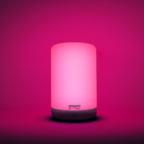 Lampa de noapte LED smart Gosund LB3 cu touch, RGBW, 16 milioane culori, Wi-Fi, ecosistem Smart Life, compatibila Google Home, Alexa 4